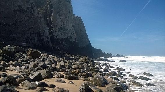 Praia Grande - estratos na vertical