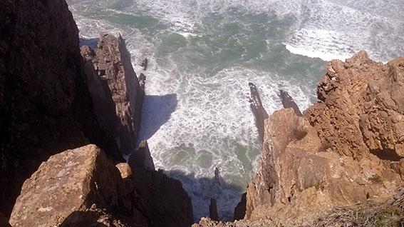 Praia Grande - arriba vista de cima estratos na vertical