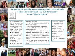 Programação Semana da Leitura 2016 - Cândida